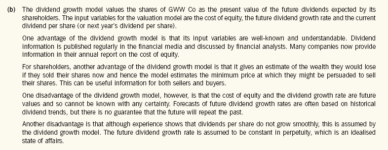 advantages and disadvantages of dividend growth model pdf