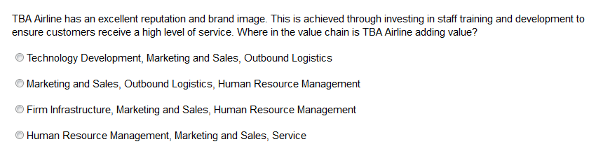 CIMA E2 (Syllabus 2015) Past Papers: Value Chain Analysis